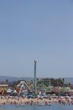 Променад пляжа Santa Cruz Стоковые Изображения RF