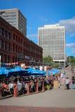 Променад рыночной площади, N.B. St. John Стоковое фото RF