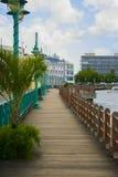 Променад Careenage морем в Бриджтауне, Барбадос Стоковые Изображения RF