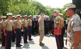 промотирование церемонии армии стоковое изображение