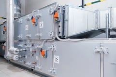 Промышленная вентиляция регулируя блок Прибор системы рециркуляции стоковая фотография rf