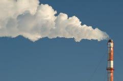 промышленная дымовая труба Стоковая Фотография