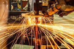 Промышленная заварка автомобильная в Таиланде стоковая фотография