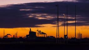 Промышленная зона на зоре Стоковая Фотография