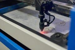 Промышленная машина лазера Стоковая Фотография