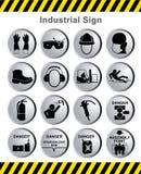 Промышленная опасность знака иллюстрация вектора