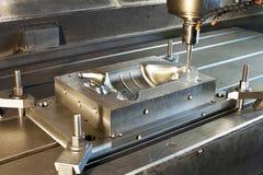 Промышленная прессформа металла/пустой филировать Технология и металл CNC стоковые изображения