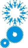 промышленная сила человека логоса Стоковое Изображение RF