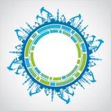 Промышленная сфера земли Стоковая Фотография RF