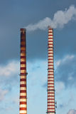 Промышленное загрязнение Стоковая Фотография