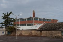 Промышленное здание в Nakskov в Дании Стоковое фото RF
