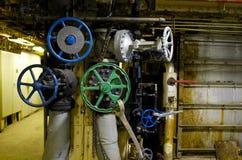 промышленное колесо клапана стоковая фотография