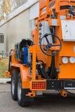 Промышленное оборудование для конструкции в промышленном месте строительной конструкции Стоковое фото RF