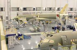 Промышленное предприятие двигателя серии Бомбардье C100 Стоковая Фотография