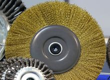 Промышленное приложение жесткой щетки стоковое изображение rf