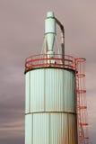 Промышленное силосохранилище вытыхания Стоковая Фотография RF