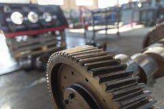 Промышленное стальное колесо шестерни стоковое фото rf