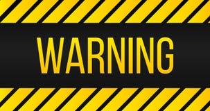 Промышленные желтые линии на черной предпосылке с предупредительным знаком иллюстрация бесплатная иллюстрация