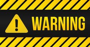 Промышленные желтые линии на черной предпосылке с предупреждая меткой exclemation signand иллюстрация бесплатная иллюстрация