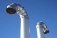 промышленные металлические трубы 2 Стоковое Изображение