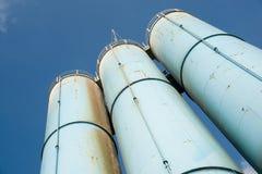 промышленные силосохранилища Стоковое Фото
