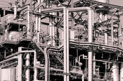 промышленные трубопровода Стоковая Фотография