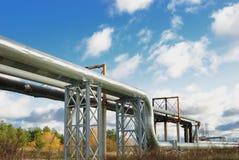 промышленные трубопровода Стоковые Изображения