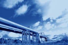 промышленные трубопровода Стоковые Фото
