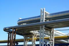 промышленные трубопровода Стоковое Фото