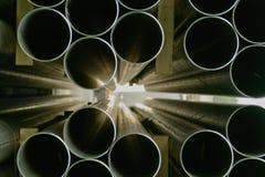 промышленные трубы стальные Стоковое фото RF