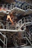 промышленный взгляд лестниц Стоковое Изображение
