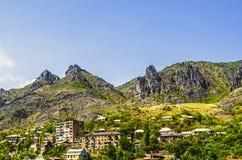 Промышленный город Alaverdi в Армении Стоковая Фотография