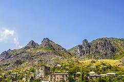 Промышленный город Alaverdi в зоне Лори в Армении Стоковые Фото