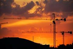 промышленный заход солнца Стоковые Изображения RF