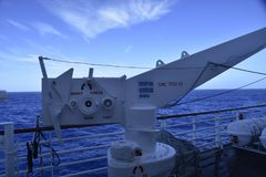Промышленный корабль в океане Стоковые Изображения RF