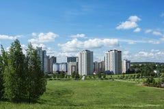 промышленный ландшафт Край района города с hig стоковые фотографии rf