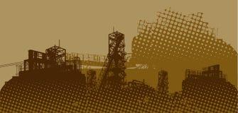 промышленный ландшафт иллюстрация вектора