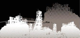 промышленный ландшафт иллюстрация штока