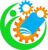 Промышленный логос образования иллюстрация вектора