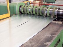 Промышленный металл свертывает спиралью машину резца Стоковая Фотография RF