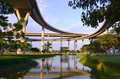 Промышленный мост дороги кольца. Стоковые Изображения