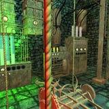 промышленный неон света лаборатории старый Стоковые Фото