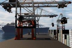 Промышленный порт 3D представляет 1 Стоковые Фото