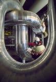 промышленный работник контролера Стоковая Фотография RF