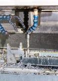 Промышленный сверлить скорости прессформы/пробела металла Инженерство металла, c стоковая фотография rf