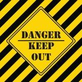 Промышленный символ - опасность держит вне иллюстрация вектора