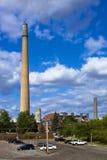 Промышленный стог на заводе никеля Стоковое Изображение RF