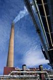 Промышленный стог на заводе никеля Стоковое фото RF