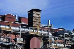 Промышленный стог на заводе никеля Стоковые Изображения