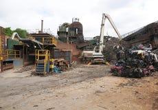 промышленный утиль завода металла Стоковое фото RF